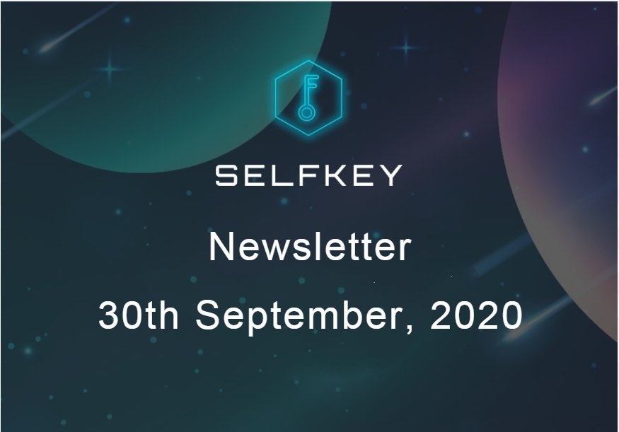 SelfKey Newsletter - 30th Sep