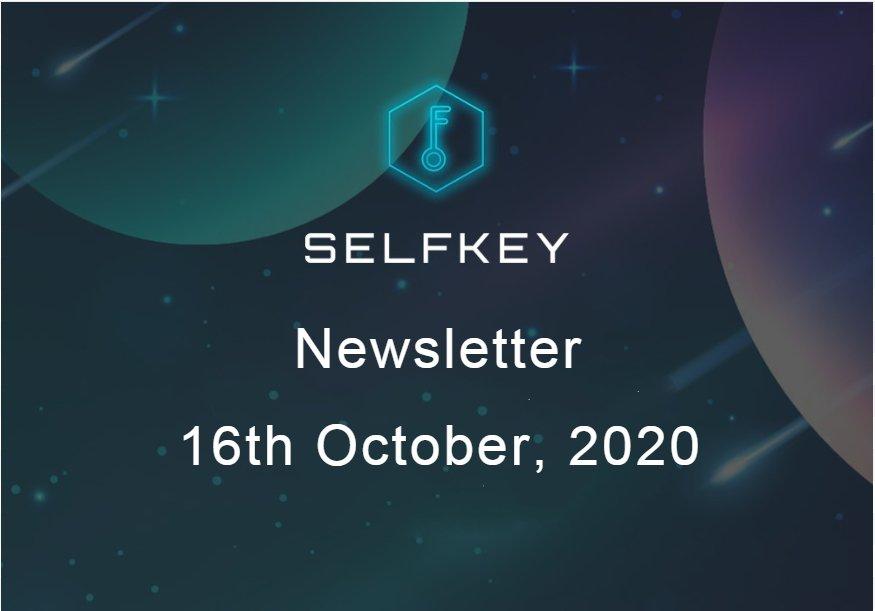 Certifiers Platform- SelfKey Newsletter - 16th Oct
