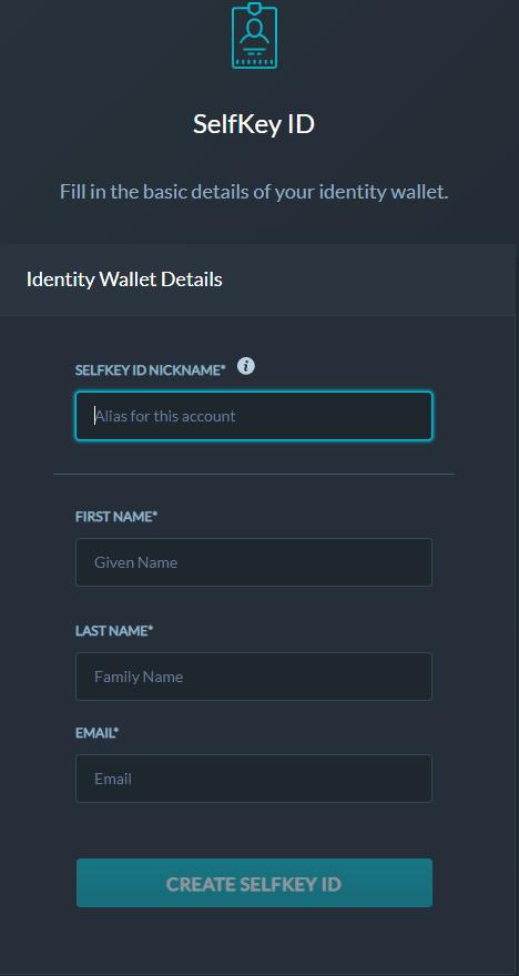 SelfKey Credentials - SelfKey ID full