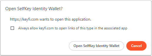Connecting SelfKey to KeyFi